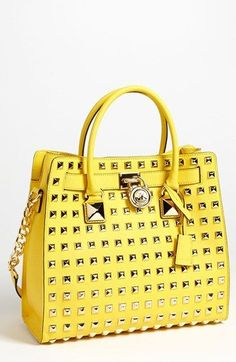 MICHAEL Michael Kors 'Hamilton - Large' Studded Leather Tote available at #Nordstrom