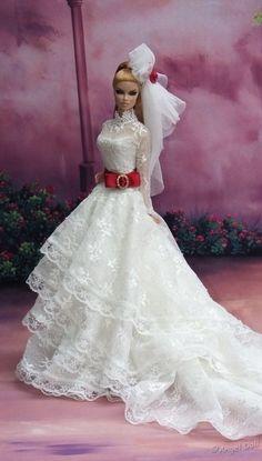 Wedding Doll, Wedding Bride, B Fashion, Fashion Dolls, Princess Gowns, Lifelike Dolls, Baba, Bride Dolls, Doll Dresses