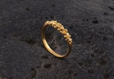 Gold dotted Ring delicate ring classic ring by JunamJewelry