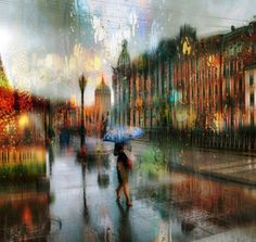 CityScape by Eduard Gordeev: Rainy Days are Definitely Inspiring and Artistic by this Russian Artist