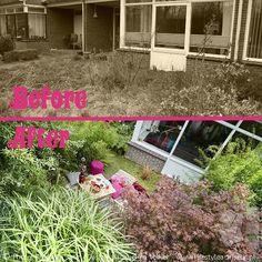Voor en na! Klein beetje anders maar, toch? ;-) Before and after. Just slightly different ;-) Bekijk alle foto's van deze voortuin, More pics:  http://www.lifestyleadviseur.nl/projects/view/voortuin-in-een-hippie-chic-bohemian-stijl  Small front yard in hippie chic, bohemian garden style. #tuinontwerp #droomtuin #garden #frontyard #tuininspiratie #metamorfose#gardendesign #voortuin  #bohemian #bohogarden #bamboo #hippiechic #ornamentalgrasses #siergrassen #privacy #voorenna #beforeandafter…