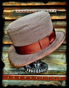 Men's Tweed Pork Pie by SHURIE SOUTHCOTT #millinery #hats #HatAcademy