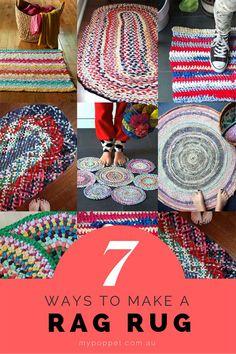 Fabric Rug, Fabric Scraps, Scrap Fabric, Recycler Diy, Rag Rug Diy, Rag Rug Crochet, Dyi Rugs, Sewing Crafts, Sewing Projects