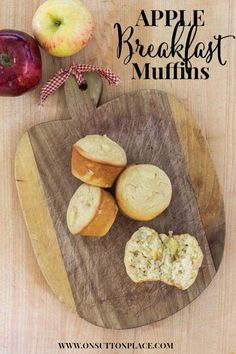 Easy Apple Breakfast Muffins Recipe - On Sutton Place Apple Breakfast, Breakfast Muffins, Breakfast Dishes, Breakfast Recipes, Brunch Recipes, Apple Recipes, Fall Recipes, Homemade Soup, C'est Bon