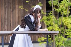 Maid Outfit, Maid Dress, Maid Costumes, Anime Cosplay Girls, Human Poses Reference, Staff Uniforms, Maid Cosplay, Maid Uniform, School Girl Outfit