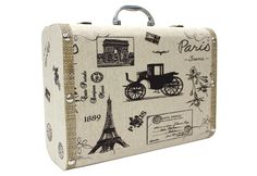 Decorative suitcases, also good for storage!