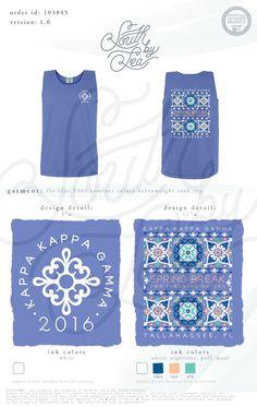 Kappa Kappa Gamma | KKG | Spring Break Shirt Design | Spring Break 2016 | South by Sea | Greek Tee Shirts | Greek Tank Tops | Custom Apparel Design | Custom Greek Apparel | Sorority Tee Shirts | Sorority Tanks | Sorority Shirt Designs