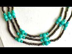 Row  necklace - Sıralı kolye - YouTube