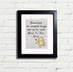 Winnie The Pooh Bear Inspirational Quote by VintageNBeautiful