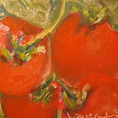 """Vine Ripened"" - Original Fine Art for Sale - © Susan E Jones"