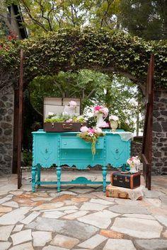 Mod Vintage Life: Jacobean Buffets or Sideboards Vintage Dressers, Vintage Furniture, Painted Furniture, Turquoise Furniture, Whitewash Furniture, Restoring Furniture, Painted Sideboard, Distressed Furniture, Refurbished Furniture