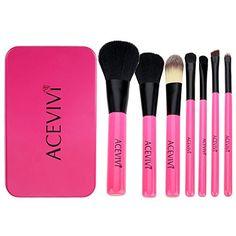 ACEVIVI Korea Style 7 pcs Lovely Pink Portable Cosmetic Brushes Tin Box Mini Travel Makeup Brushes ACEVIVI http://www.amazon.com/dp/B00UJ3Y4WI/ref=cm_sw_r_pi_dp_RT.xvb06KZD11