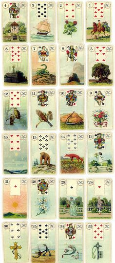 Madame Lenormand Fortune Telling Cards - World of Playing Cards (many more on the website)