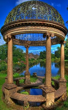 Ancient Gazebo at Hartland Abbey in Hartland, Devon, England