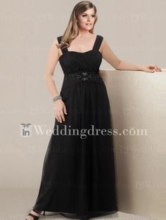 Chiffon Plus Size Mother of the Bride Gown with Straps MO044