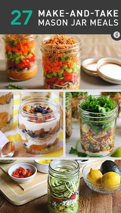 27 Healthy and Portable Mason Jar Meals #masonjarmeals #masonjarrecipes #foodporn