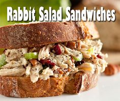 Rabbit Salad Sandwiches - great for a summer picnic or to take in your lunch to work. Serve the salad on a crusty french bread or a nice roll.