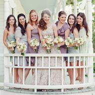 Bridesmaid Dresses: 12 Tips for Choosing the Right Look || By The Knot. || Featured in the 7-months-away free email reminder at MyWeddingReminders.com.