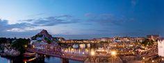 東京ディズニーリゾート,東京ディズニーシー,アメリカンウォーターフロント,SSコロンビア号,夜景 Tokyo Disney Sea, Disney Resorts, Disney Pixar, New York Skyline, Park, Places, Travel, Food, Viajes