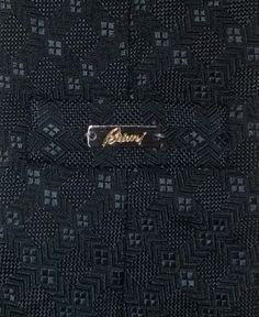 "Men/'s BRIONI dis n D060396 Micro Diamonds Wave Pattern 3.25/"" Silk Neck Tie NWT"
