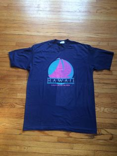41074452ff2b Vintage Hawaii Pacific Islands Oversize Hanes Fifty Fifty T-Shirt by  VintageVanShop on Etsy Vintage
