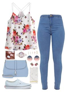 """""""Floral; Pink & Blue"""" by heelobsession ❤ liked on Polyvore featuring Vans, Dolce&Gabbana, Bogner, Fendi, Olivia Burton and Forever 21"""