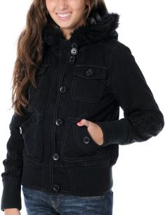 Volcom Girls Leopard Print Bomber jacket Zine Girls zip-up