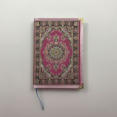 Large Notebook / Journal / Covered with fabric / Ottoman Pattern / Blank with lines by HurremSultanJewelry on Etsy