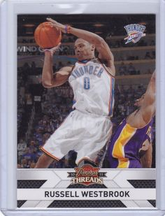 Russell Westbrook Oklahoma City Thunder 2010-11 Panini Threads Basketball Card 56 *** Want additional info? Click on the image.
