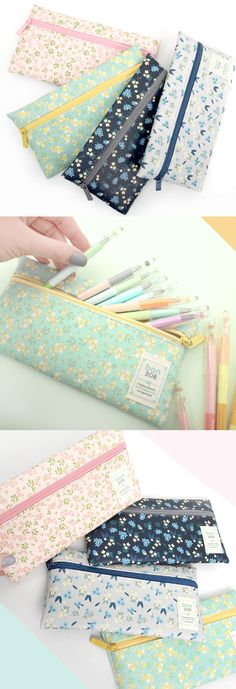 The slim and versatile pouch that brings you an endless romantic spring with its lovely floral patterns!