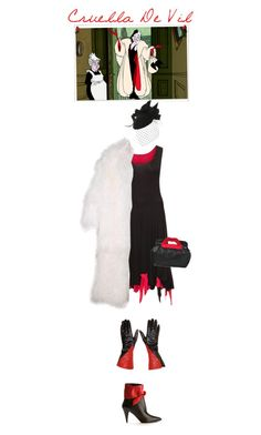 """Cruella De Vil"" by junglover ❤ liked on Polyvore featuring Mode, Boris, RED Valentino, Brazen und Yves Saint Laurent"