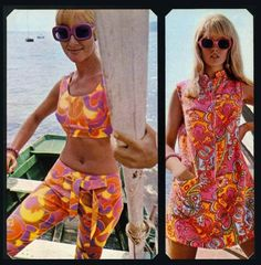 Sixties 60s And 70s Fashion, Funky Fashion, Teen Fashion, Vintage Fashion, Purple Coat, Cool Style, 60s Style, Vintage Outfits, Vintage Clothing