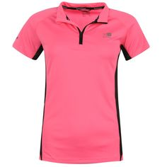 Karrimor | Karrimor Zip Collar Short Sleeve Ladies Running Top | Ladies Running Clothing