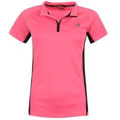 Karrimor   Karrimor Zip Collar Short Sleeve Ladies Running Top   Ladies Running Clothing
