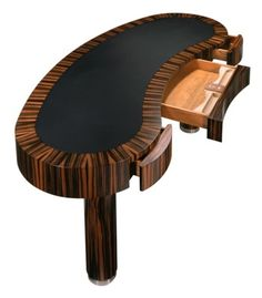 Made of Macassar Ebony. The precise dimensions of this desk are founded in ancient Chinese Feng Shui texts; as being conducive for attracting wealth, prosperity, nobility and integrity into one. This item may be purchased on ecofirstart.com