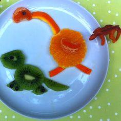 Dinosaur fruit salad. Kids Food