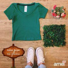 Cropped #etiquetaamei   #lojaamei #cropped #verde