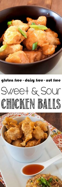 Forget the restaurants - make your own Chinese food at home with these gluten free Chinese Chicken Balls. A thin, crispy batter wrapped around tender chicken. And don't forget about that magical Sweet and Sour Sauce. Yum!
