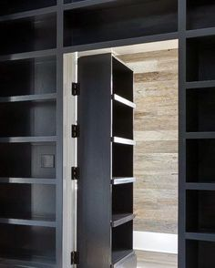 How to make a BILLY bookcase secret door - IKEA HackersSee it. How to make a BILLY bookcase secret doorTop 50 Best Hidden Door Ideas - Secret Room Entrance Hidden Door Hinges, Hidden Door Bookcase, Hidden Cabinet, Entrance Design, Door Design, Office Entrance, Entrance Ideas, Painting Bookcase, Hidden Spaces