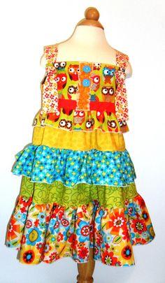 Owls Dress by Dashingly Dainty Designs