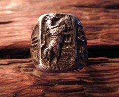 Iron Crow Rockin Vintage - A Very Vintage and Rare Sterling Silver Arizona Cowboy Ring size 9.5 Rock Star, cowboy