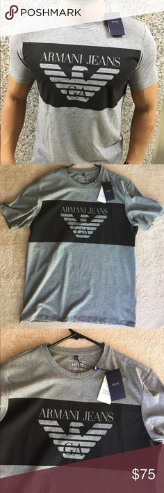 "Armani Jeans T-Shirt T-shirt with ""Armani Jeans"" logo print band. Regular fit. The versatile garment s perfect for athletic and casual outfits. 100% Cotton, Jersey, Logo Print, Short sleeves. It runs small Imported. Armani Jeans Shirts Tees - Short Sleeve"