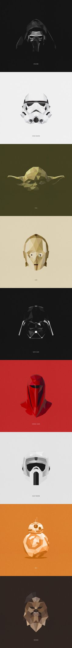 9 Awesome Star Wars Characters Illustrations By Tim Lautensack
