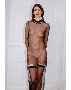 Bare long dress  maid collar  maid garters shop