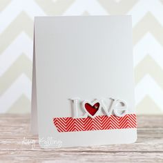 Love word (PTI) with Washi tape (Kelly Purkey for SSS)