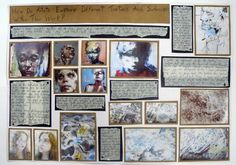 A2 Fine Art A Level Journal Page, Exploring a concept linked to the written element, Thomas Rotherham College, 2014