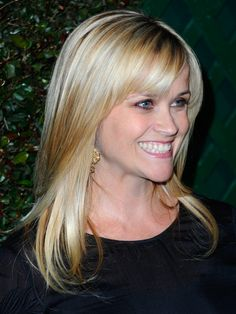 Side-Swept Bangs, very cute  Reese Witherspoon. 20 Photos of Side-Swept Bang Hairstyles: Reese Witherspoon's Sideswept Bangs