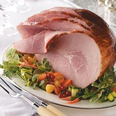 Apple Cider Glazed Ham. A touch of sweet to balance the spicy.