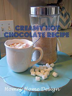 homey home design: Creamy Hot Chocolate Recipe
