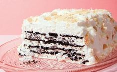 Coconut-Chocolate Icebox Cake with Toasted Almonds